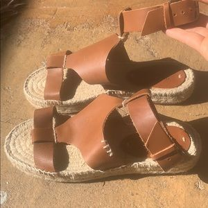 SOLUDOS sandals with espadrille like 1in platform